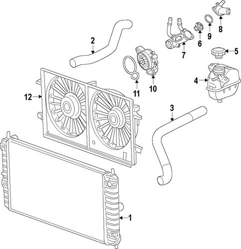 radiator  u0026 components parts for 2011 chevrolet malibu