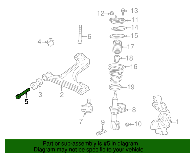 Lower Control Arm Bolt GM 22656154 GMpartsdirect. Lower Control Arm Bolt. Chevrolet. Trailling Arm Parts Diagram 2002 Chevy Impala At Scoala.co