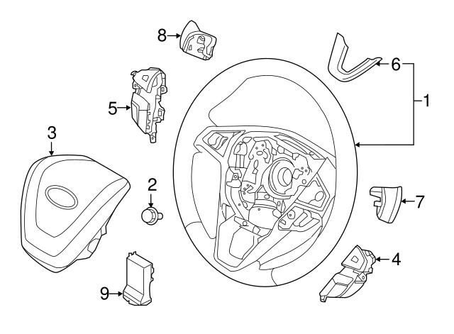 2016 2018 Lincoln Mkx Steering Wheel Fp5z 3600 Le