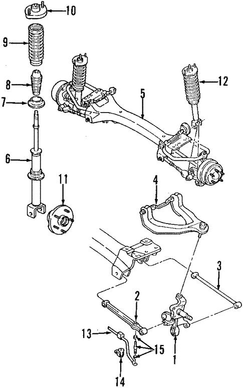 rear suspension for 1996 dodge stratus parts