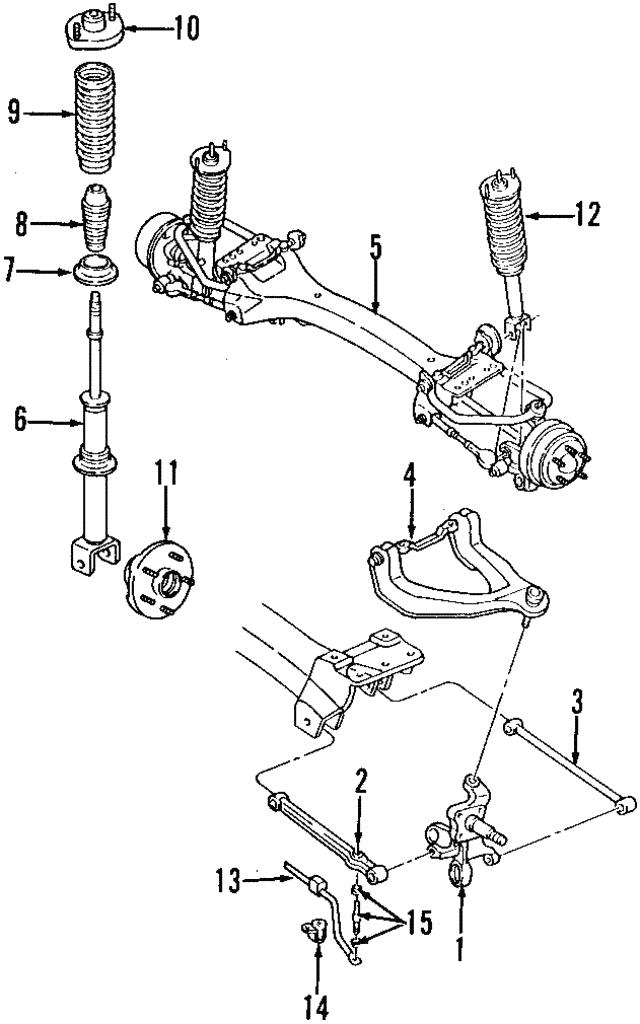 Ft Lower Control Arm Mopar 4695388: 1999 Chrysler Cirrus Tie Rod Diagram At Sergidarder.com