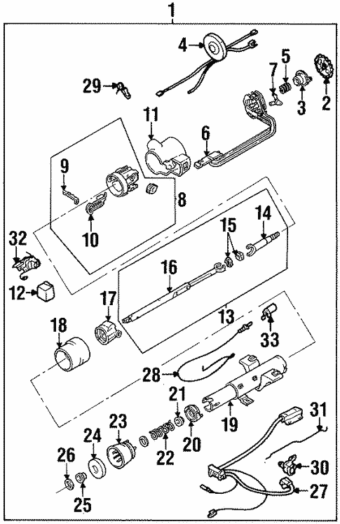 Steering Column Components For 1993 Cadillac Eldorado