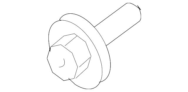 Genuine Toyota Lower Control Arm Mount Bolt 90105-14104