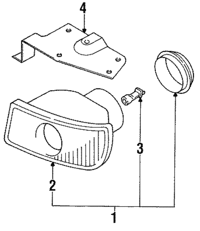 1991 2006 Mitsubishi Fog Lamp Bulb Ms820964