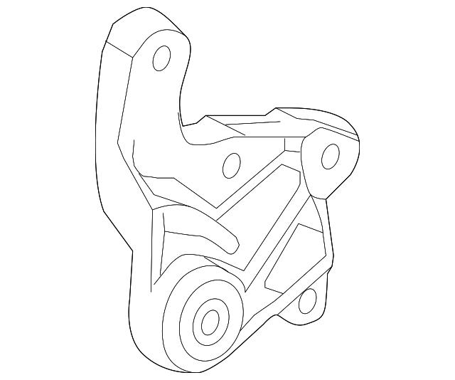 2016-2019 Chevrolet Spark Trans Mount Bracket 95174573