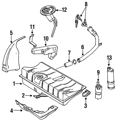 Fuel System Components For 1991 Volkswagen Cabriolet