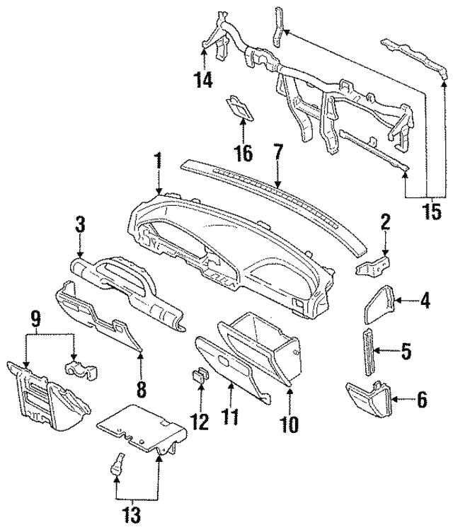 1995 1996 Ford Reinforcement F5cz5804545a