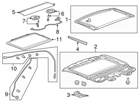Admirable Oem 2012 Cadillac Cts Sunroof Parts Gmpartsonline Net Wiring Cloud Intapioscosaoduqqnet