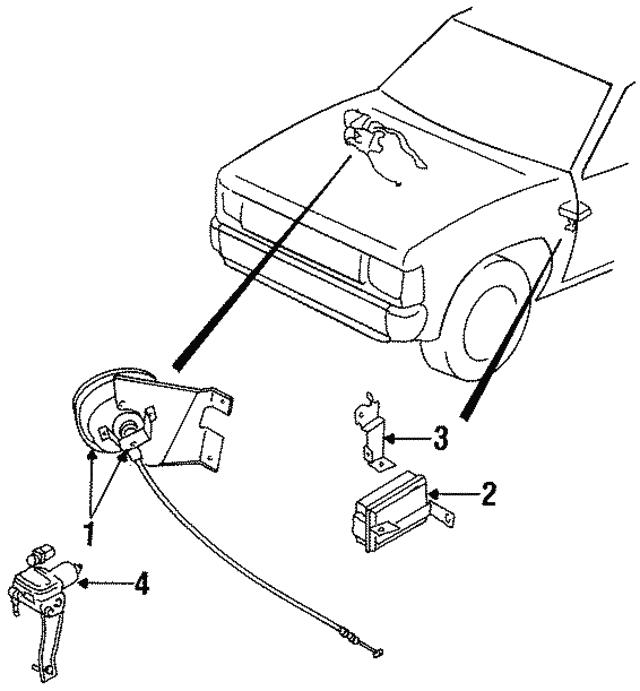 1987 1997 Nissan Vacuum Pump 18955 57g00