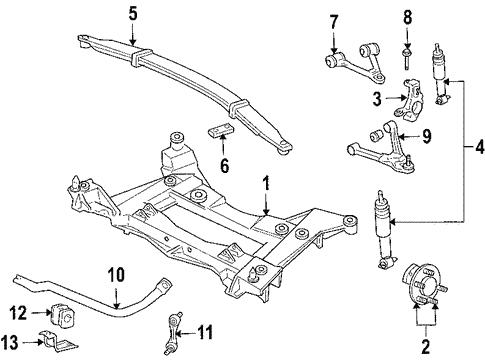Oem 2006 Cadillac Xlr Upper Control Arm Parts