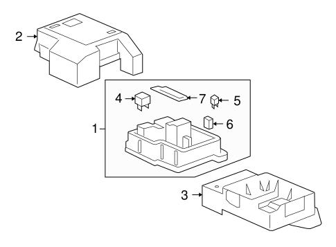 oem fuse relay for 2011 gmc sierra 1500. Black Bedroom Furniture Sets. Home Design Ideas
