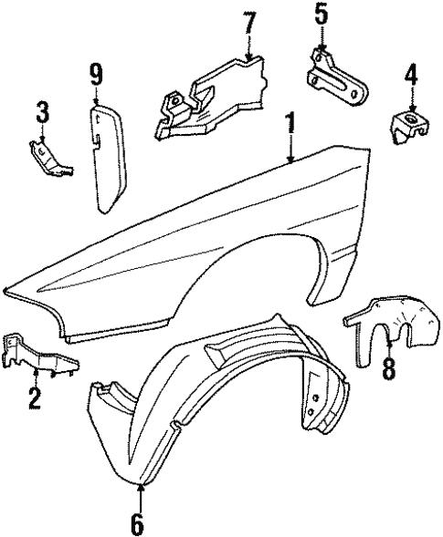 oem 1998 pontiac bonneville fender ponents parts 1998 Pontiac Bonneville Engine body fender ponents for 1998 pontiac bonneville 1