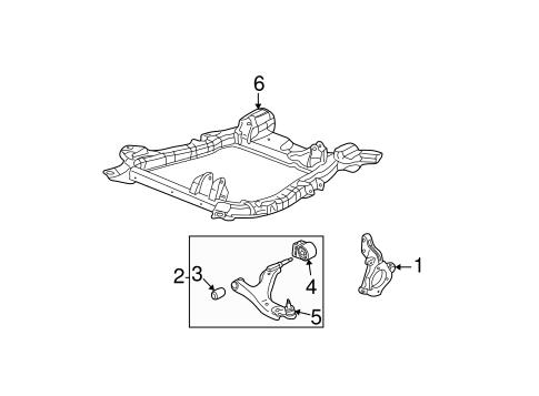oem 2005 chevrolet equinox suspension components parts. Black Bedroom Furniture Sets. Home Design Ideas