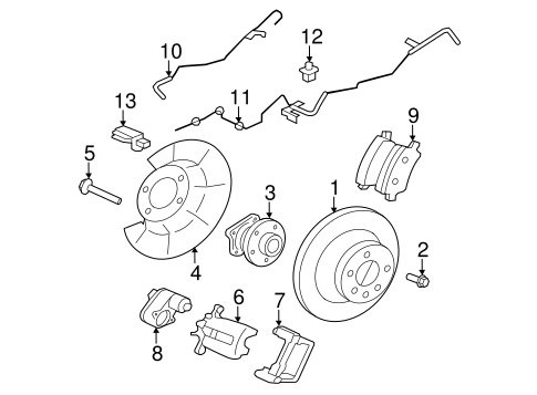 Rear Brakes for 2013 Volvo S60 #1