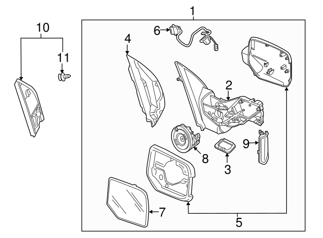 2009 2015 Honda Pilot 5 Door Harness Sub Assembly R Heatedmemory