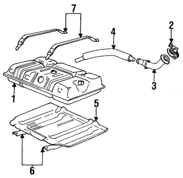 1987 1997 Ford Fuel Tank Strap F6tz9092ab