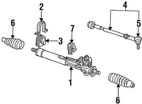 Steering Gear & Linkage for 1999 Volkswagen Cabrio #0