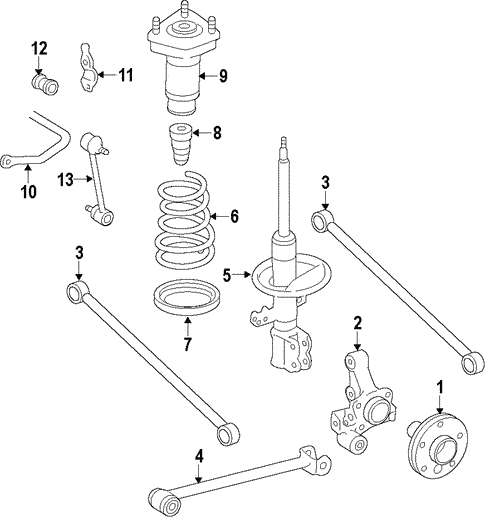 rear suspension for 2003 toyota avalon