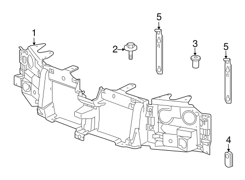 GM OEM Front Panels-Retainer 89044550