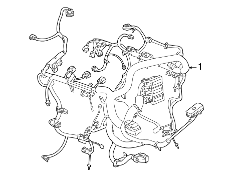 Oem 2016 Chevrolet Impala Wiring Harness Parts