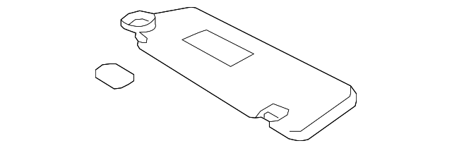 Toyota Genuine 74310-48140-B1 Visor Assembly