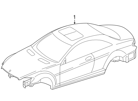 Body Shell For 2009 Mercedes Benz Cl 600