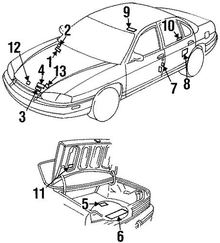 OEM 1996 Buick Skylark Labels Parts