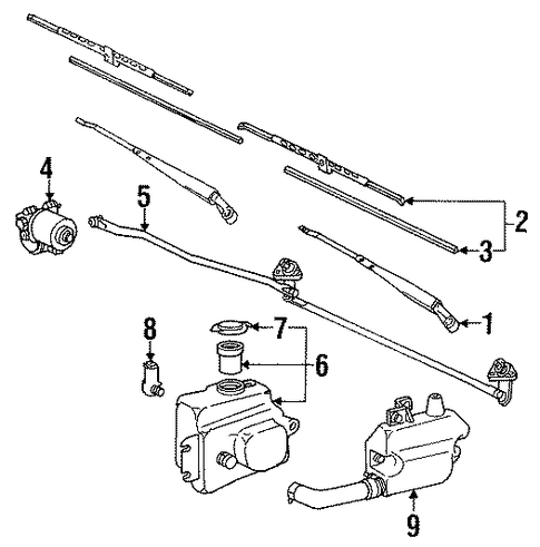 Wiper Amp Washer Components For 1991 Toyota Land Cruiser