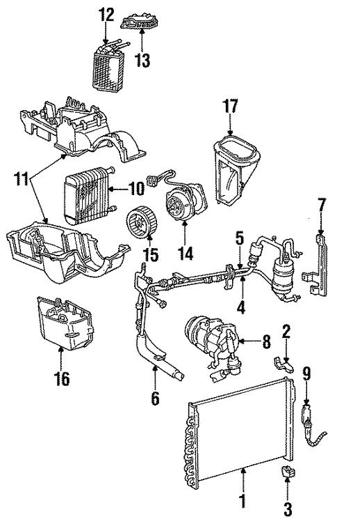 Oem 1995 Ford Taurus Condenser Compressor Lines Parts