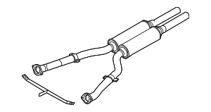 Exhaust Pipe - BMW (18-30-7-537-344)