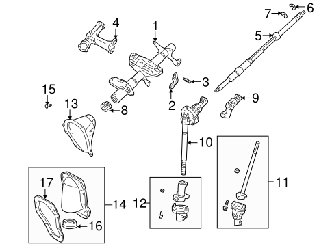 steering column assembly for 1996 toyota tacoma | toyota ... toyota tacoma steering column diagram #4