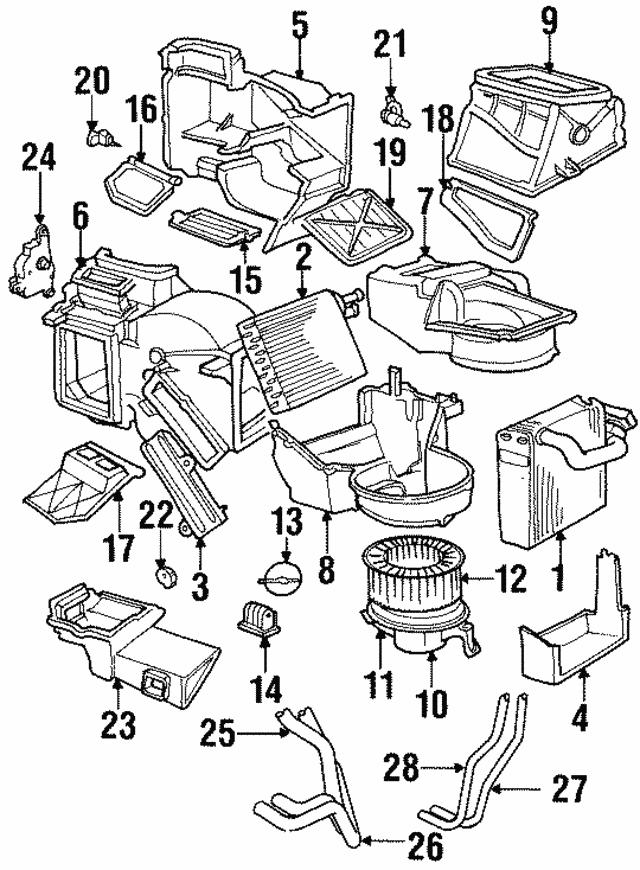 1995 2000 Mopar Blower Motor 4797372
