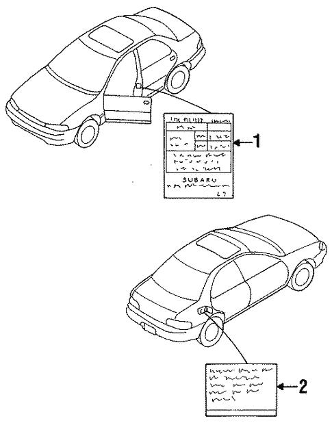 Labels For 1999 Subaru Legacy