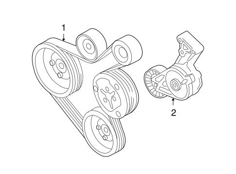 Belts Pulleys For 1999 Volkswagen Beetle