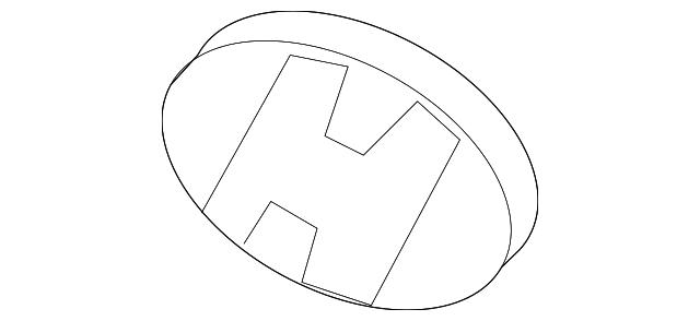 HYUNDAI Genuine 86321-25500 Accent Emblem