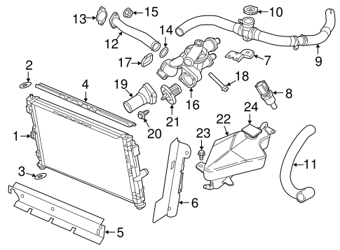 Radiator Components For 2011 Chrysler 200