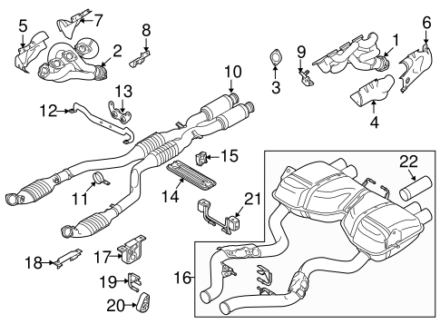 Exhaust Components For 2010 Bmw M3