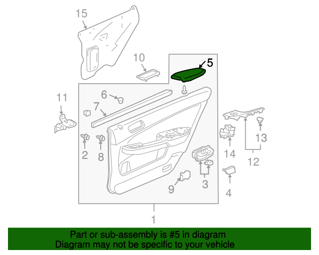 Genuine Hyundai 79210-29000 Trunk Lid Hinge Assembly Left