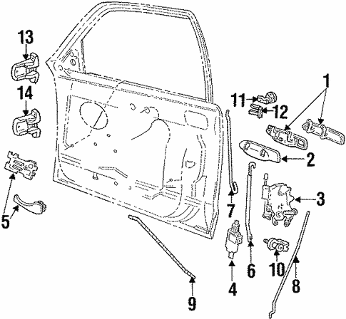 lock  u0026 hardware for 1996 ford crown victoria