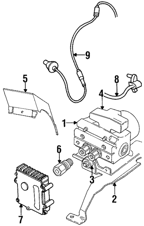 Abs Components For 1999 Chrysler Sebring