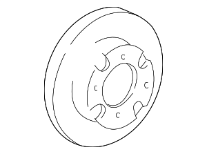 Disc Brake Rotor - Hyundai (51712-25061)