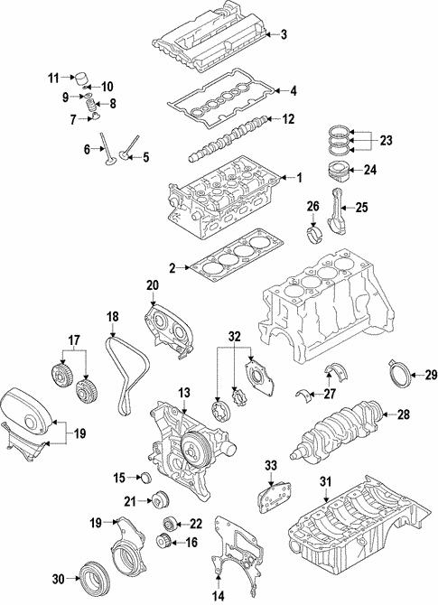 Oem 2008 Saturn Astra Engine Parts