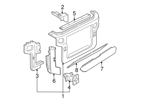 Radiator Support For 2000 Ford Mustang