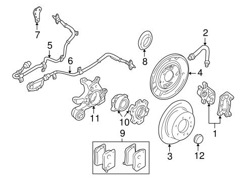 Brake Components For 2003 Mitsubishi Montero