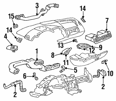 Body/Air Distribution System for 1995 Chevrolet Corvette #1