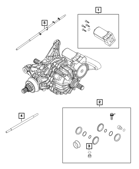 Rear Axle; Housing, Differential and Vent for 2015 Jeep Renegade #0