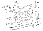 Lock Cover - Mercedes-Benz (2027230208)