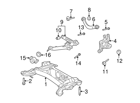 REAR SUSPENSION/REAR SUSPENSION for 2012 Toyota Matrix #3