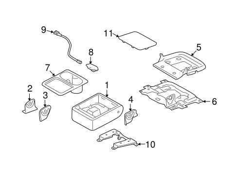 Rear Seat Components For 2010 Subaru Forester Subaru Parts Depot