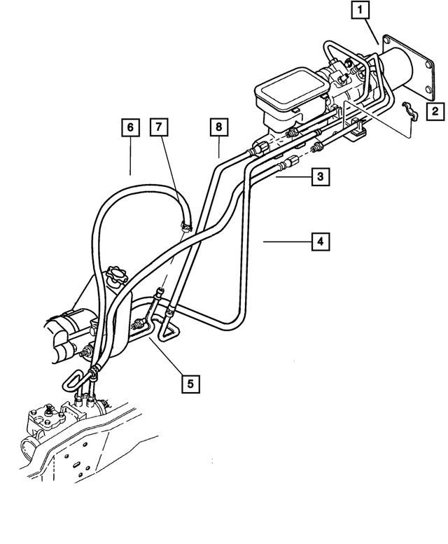 2001 Dodge Ram 3500 Power Steering Return Hydroboost Hose 52106996AA |  DodgeParts.comDodge Parts